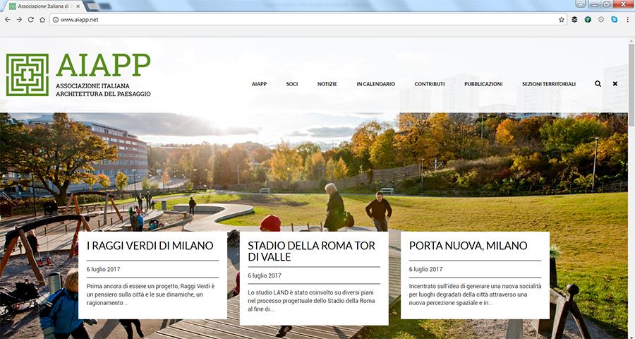 Aiapp Nuovo Sito Web Per La Community Di Architettura Del Paesaggio