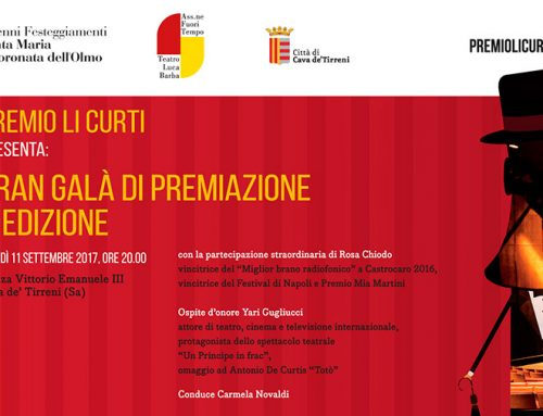 """""""Premio Li Curti"""", lunedì 11 settembre il Gran Galà di Premiazione"""