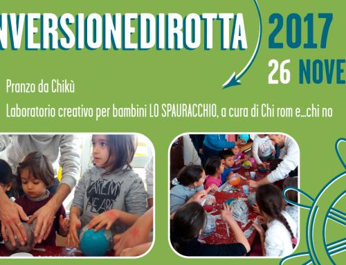 #inversionedirotta, domenica 26 novembre pranzo con laboratori per bambini