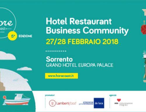 HoReCoast, a Sorrento la V edizione della business community  dedicata ai professionisti ed agli operatori del mondo Horeca