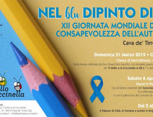 """""""Nel blu dipinto di blu"""", 8 giorni di iniziative a Cava de' Tirreni per la XII Giornata Mondiale della consapevolezza dell'autismo"""