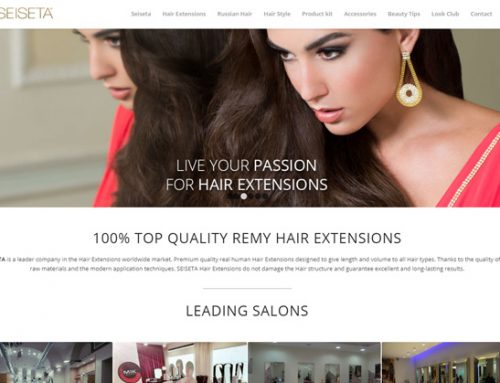 SEISETA – Hair Extension. Sito web e Shop on line